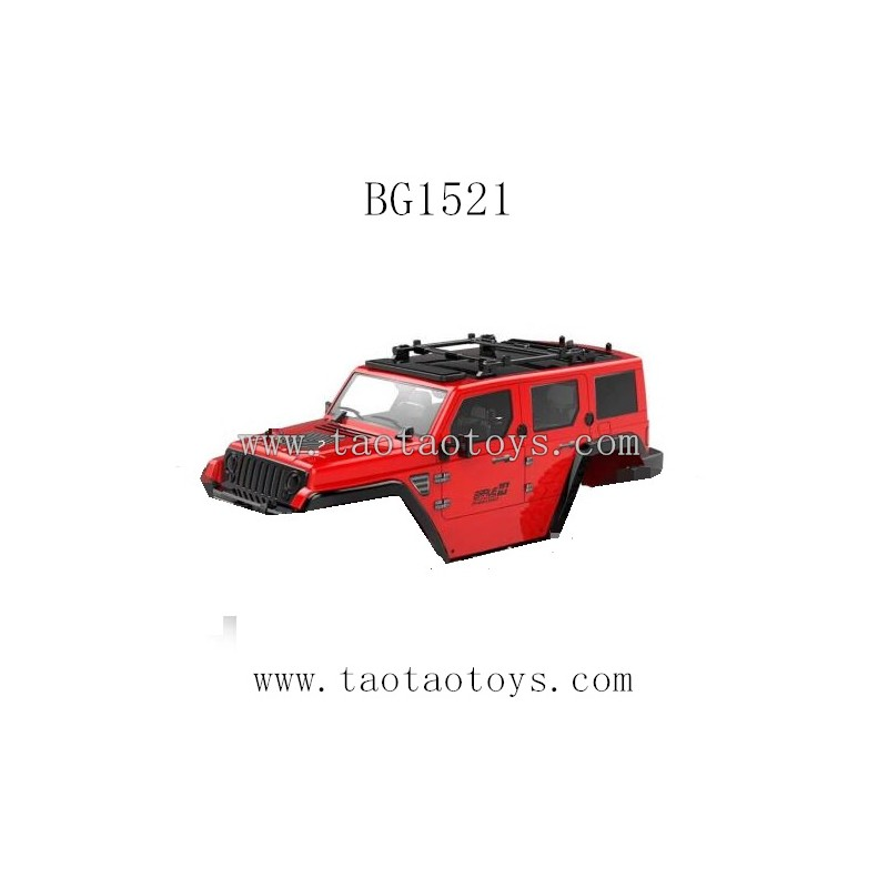 Subotech BG1521 Parts-Car Body Shell Red