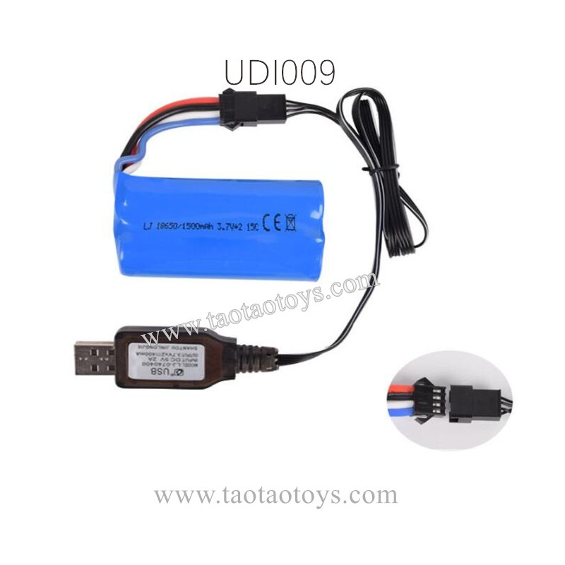 UdiR/C UDI009 RC Boat Parts, Battery and USB Charger