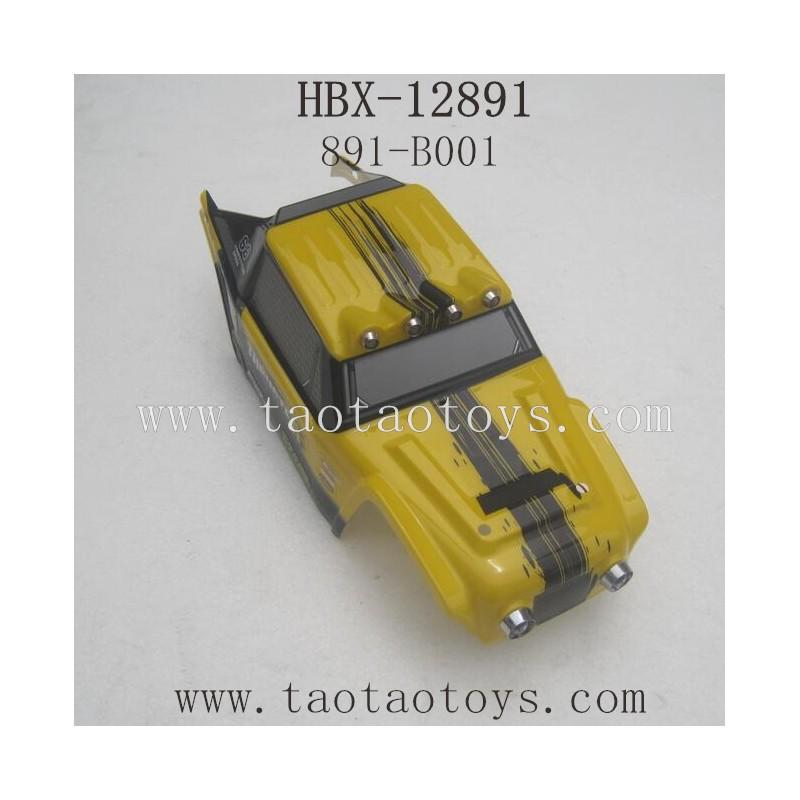 HBX 12891 Parts-Car Shell Yellow