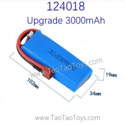 WLTOYS 124018 1/12 Upgrade Parts Battery 7.4V 3000mAh